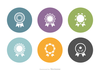 Free Cockade Vector Icon Set - vector gratuit #388739