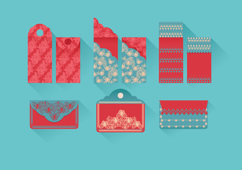 Red Packet Vector - vector gratuit #388749