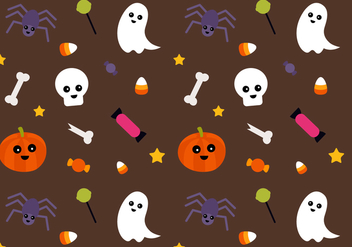 Free Halloween Pattern Vector - бесплатный vector #388769