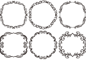 Decorative Vector Frames - vector #388859 gratis