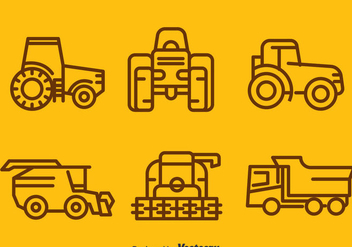 Harvest Tractors Collection Vector - Free vector #388919