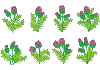 Thistle Icons - vector #388929 gratis