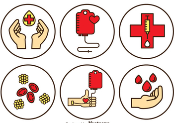 Blood Donation Vector Set - Free vector #388999