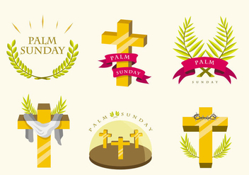 Palm Sunday vector pack - Free vector #389059