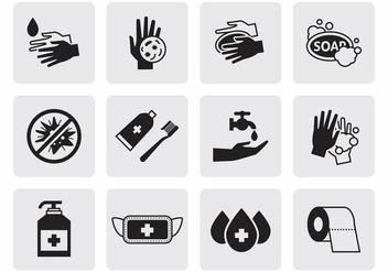 Free Hygiene Icons Vector - vector #389079 gratis