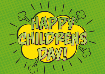 Comic Style Childrens Day Illustration - Kostenloses vector #389109