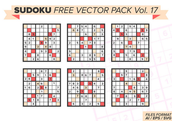 Sudoku Free Vector Pack Vol. 17 - бесплатный vector #389119