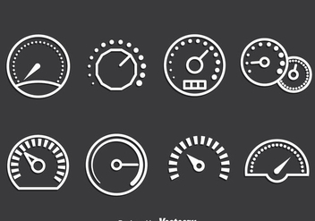 Meter Icons Vector Set - Free vector #389169