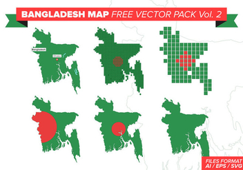 Bangladesh Map Free Vector Pack Vol. 2 - Free vector #389199
