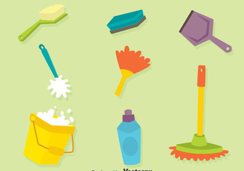 Cleanning Tools Vector Set - Free vector #389209