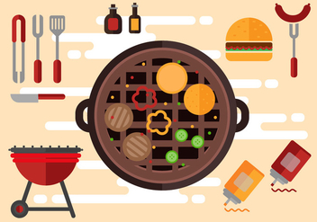 Free Tailgating Icons Illustration Vector - Free vector #389289