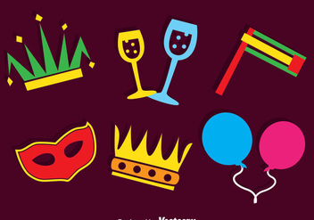 Purim Carnival Element Vector - Free vector #389559