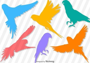Budgie Vector Silhouettes - Kostenloses vector #389589