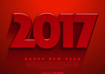 New Year 2017 Vector Abstract Background - vector gratuit #389639