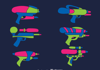 Water Gun Collection Vector - бесплатный vector #389659