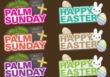 Palm Sunday Titles - vector gratuit #389689