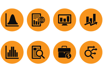 Market Analys Icons - vector #389729 gratis