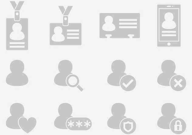 Gray ID Icons - Kostenloses vector #389739