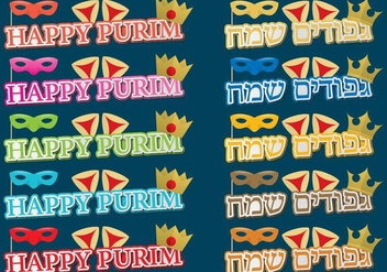 Happy Purim Titles - Free vector #389779