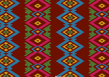 Traditional Songket Background - vector gratuit #389799