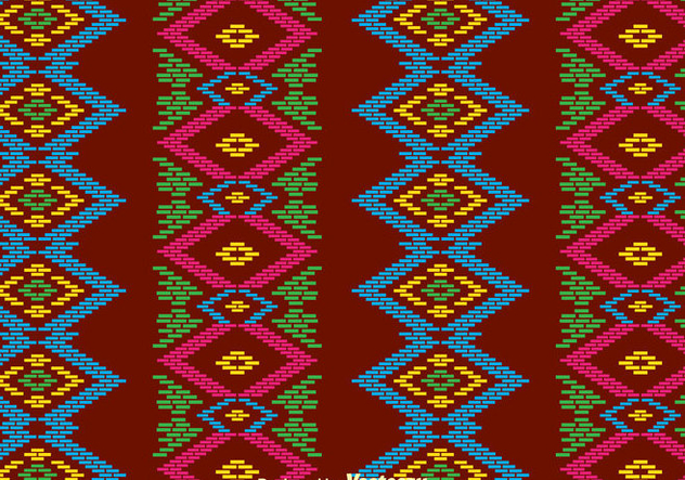 Traditional Songket Background - vector #389799 gratis