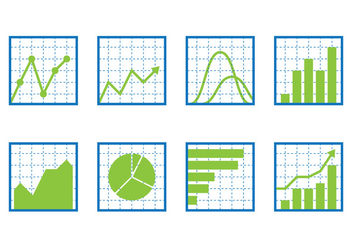 Chart Icon Set - vector gratuit #389919