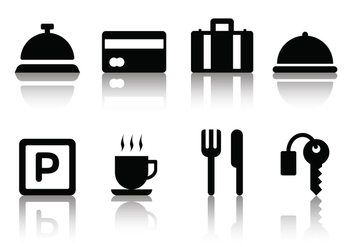 Free Minimalist Hotel Icons - Free vector #390029