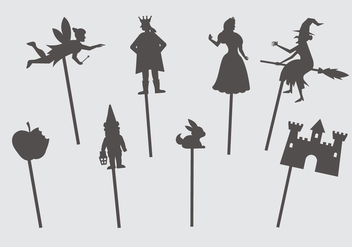 Fairytale Shadow Puppets - бесплатный vector #390039