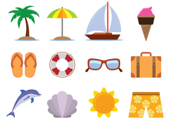 Hawai Vector Icons - Free vector #390049