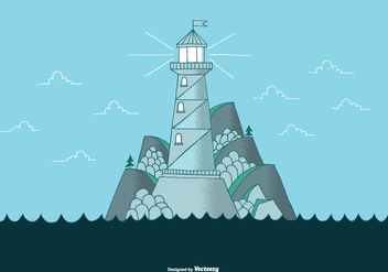 Lighthouse Landscape Vector - бесплатный vector #390099