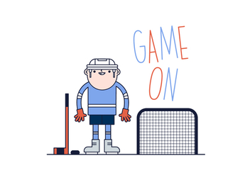 Free Hockey Player Vector - Free vector #390249