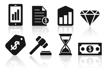 Free Minimalist Business and Finance Icon Set - Free vector #390379