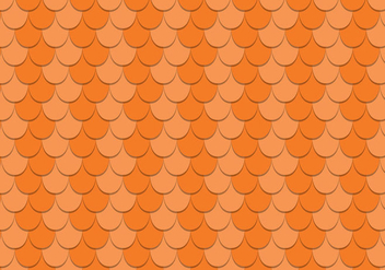 Free Scalloped Rooftop Vector Pattern - vector gratuit #390449