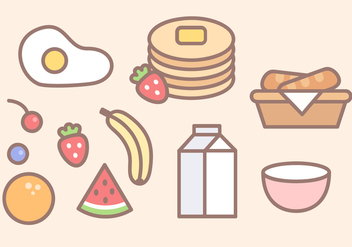 Free Breakfast Food Vector - бесплатный vector #390479