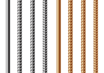 Free Rebars and Reinforcement Steel Vector - vector gratuit #390599