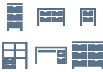 File Cabinet Vector - Free vector #390639