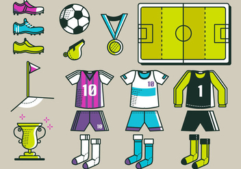 Football Kit Vector Pack - Kostenloses vector #390649
