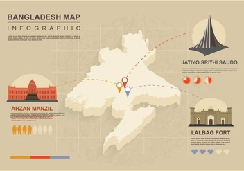 Free Bangladesh Map Illustration - Free vector #390709