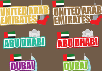 United Arab Emirates Titles - vector #390729 gratis