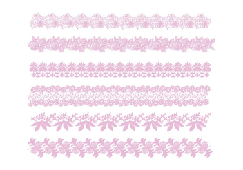 Lace Trim Vector - vector #390739 gratis
