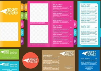 Fast Food Templates - vector gratuit #390829