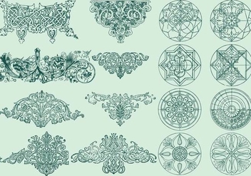 Line Ornaments - vector gratuit #390839