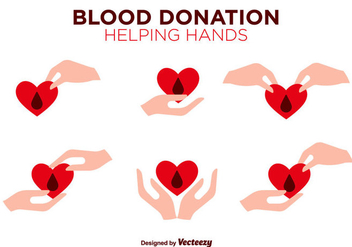 Blood Drive Vector Flat Color Icons - Kostenloses vector #390939