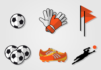 Goal Keeper Vector Set - Free vector #391059