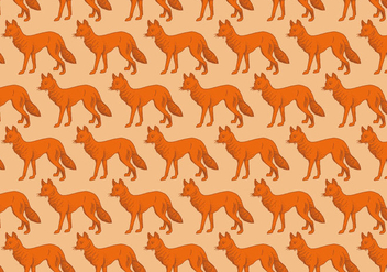 Orange Fox Pattern - Kostenloses vector #391079