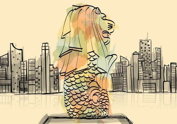 Free Merlion Illustration - Kostenloses vector #391139