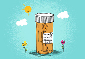 Prescription Bottle Man - vector gratuit #391149