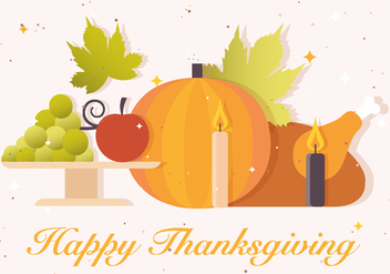 Free Thanksgiving Vector Background - Kostenloses vector #391199