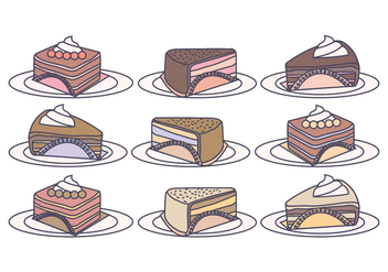 Vector Cake Slices - vector gratuit #391239