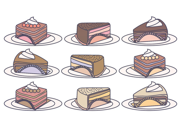 Vector Cake Slices - Free vector #391239